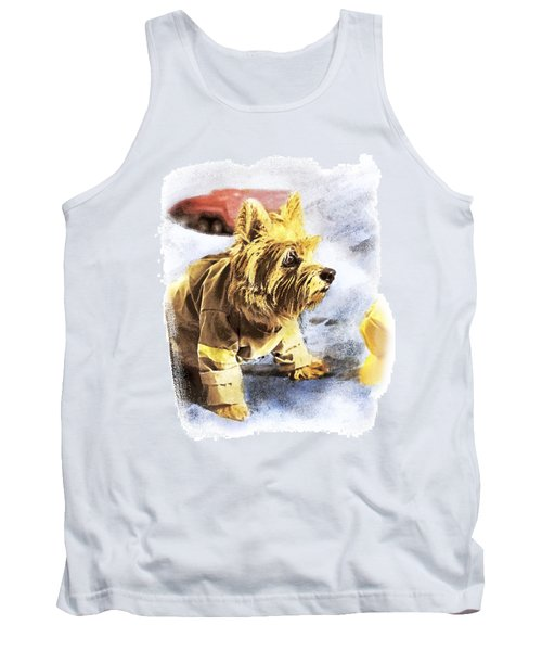 Norwich Terrier Fire Dog Tank Top by Susan Stone