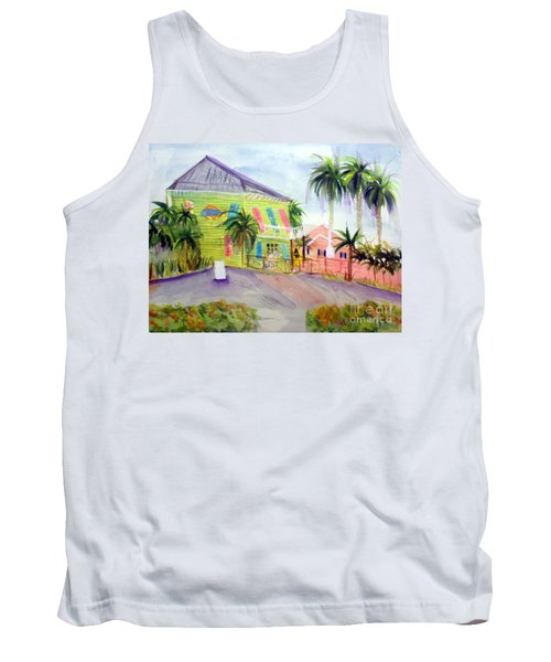 Old Key Lime House Tank Top by Donna Walsh