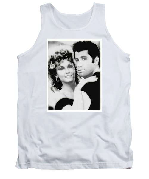 Olivia Newton John And John Travolta In Grease Collage Tank Top