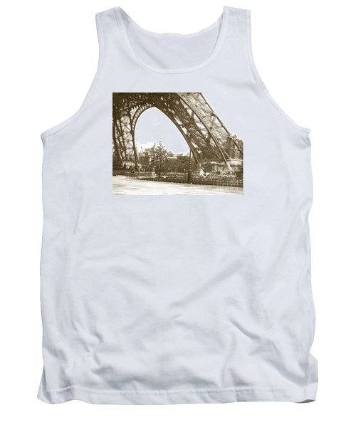 Tank Top featuring the photograph Paris Exposition Eiffel Tower Paris France 1900  Historical Photos by California Views Mr Pat Hathaway Archives