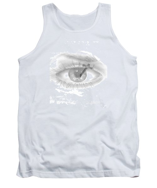 Tank Top featuring the drawing Plank In Eye by Terry Frederick