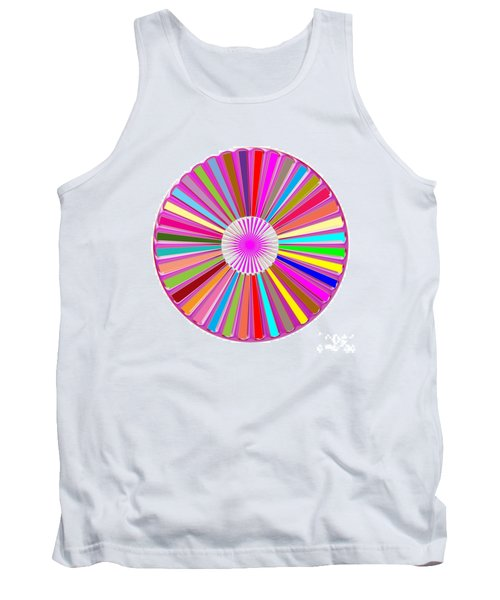Colorful Signature Art Chakra Round Mandala By Navinjoshi At Fineartamerica.com Rare Fineart Images  Tank Top by Navin Joshi