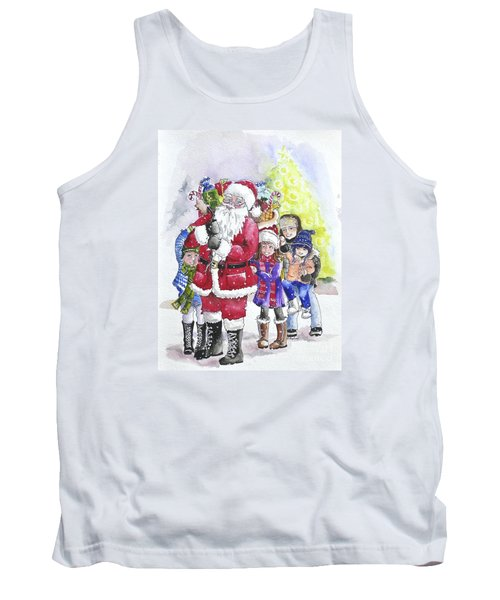 Santa And Children Tank Top