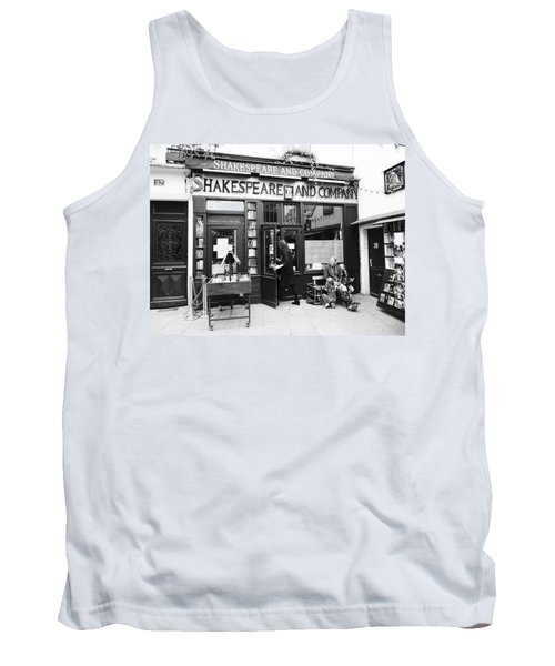 Shakespeare And Company Bookstore In Paris France Tank Top