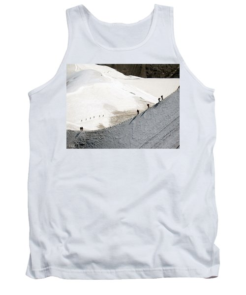 Skiers At Mont Blanc Tank Top