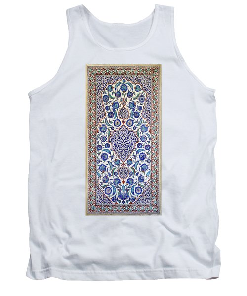 Sultan Selim II Tomb 16th Century Hand Painted Wall Tiles Tank Top