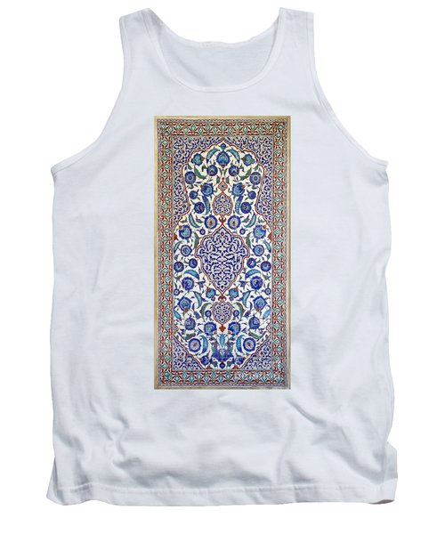 Sultan Selim II Tomb 16th Century Hand Painted Wall Tiles Tank Top by Ralph A  Ledergerber-Photography