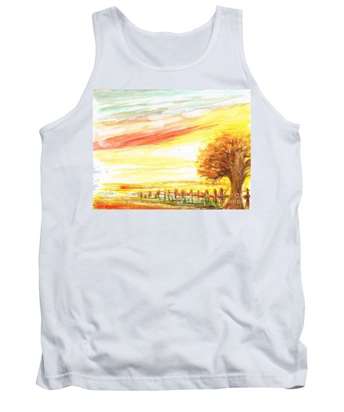 Tank Top featuring the painting Sunset by Teresa White