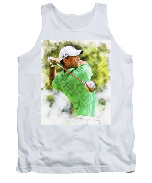 Tiger Woods Hits A Drive  Tank Top
