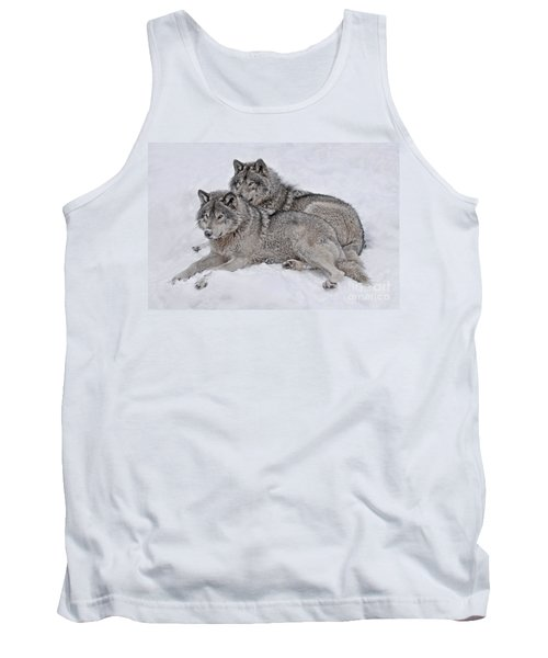 Timber Wolf Pair Tank Top