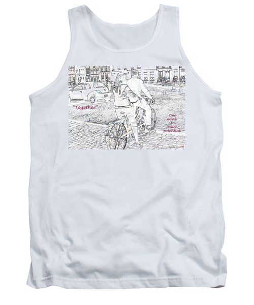 Tank Top featuring the photograph Together by Rhonda McDougall