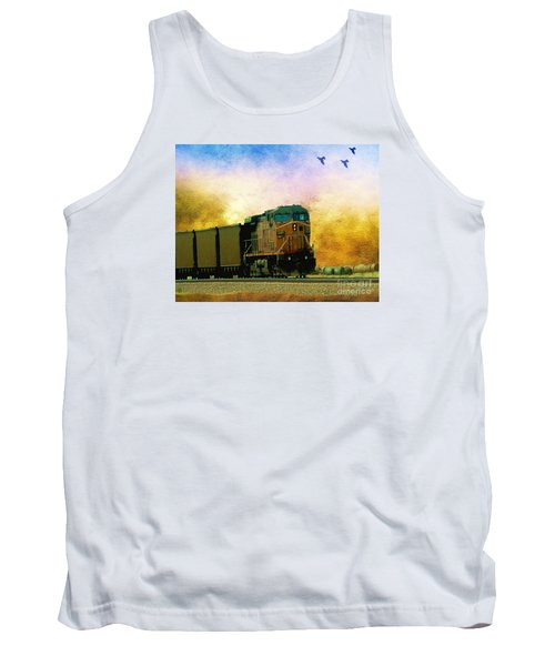 Union Pacific Coal Train Tank Top by Janette Boyd