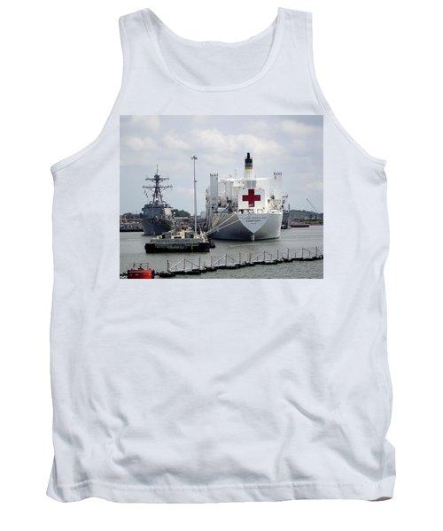 Us Naval Hospital Ship Comfort Tank Top