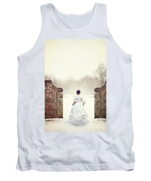 Victorian Woman In Snow Tank Top
