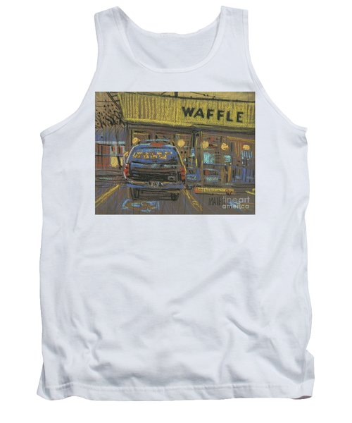 Tank Top featuring the painting Waffle House by Donald Maier