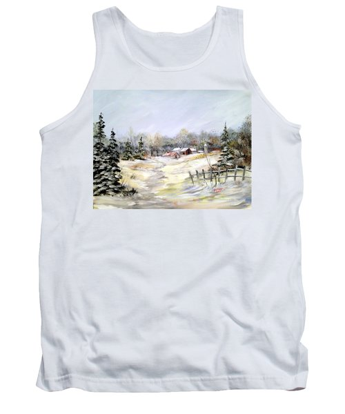 Winter At The Farm Tank Top by Dorothy Maier