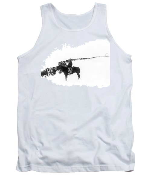 Wintertime Cattle Drive Tank Top