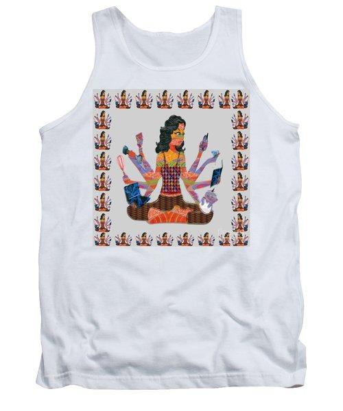 Modern Woman Female Spiritual Inspiration Multitasking Leadership Goddess Background Designs   Tank Top