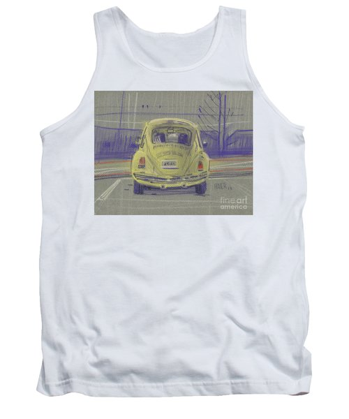 Tank Top featuring the painting Yellow Beetle by Donald Maier