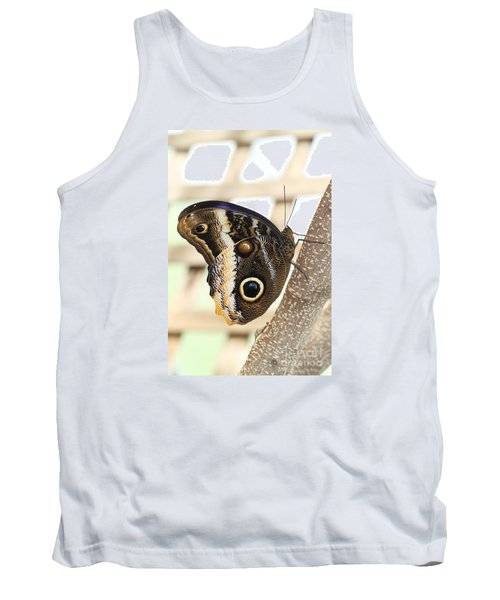 Yellow-edged Giant Owl Butterfly #4 Tank Top by Judy Whitton