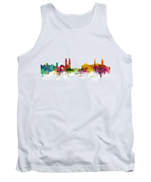 Zurich Switzerland Skyline Tank Top