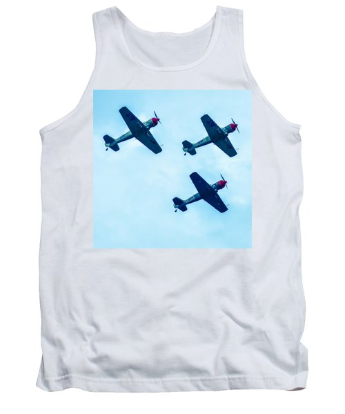 Tank Top featuring the photograph Action In The Sky During An Airshow by Alex Grichenko