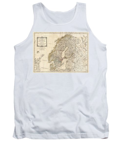 1794 Laurie And Whittle Map Of Norway Sweden Denmark And Finland Tank Top
