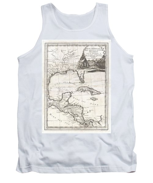 1798 Cassini Map Of Florida Louisiana Cuba And Central America Tank Top