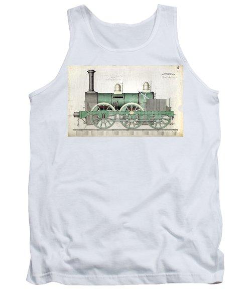 1843 Locomotive Luggage Engine Tank Top