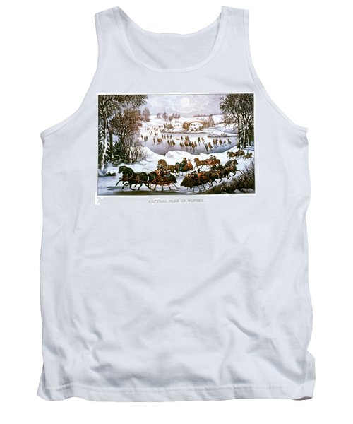1860s Central Park In Winter - New York Tank Top