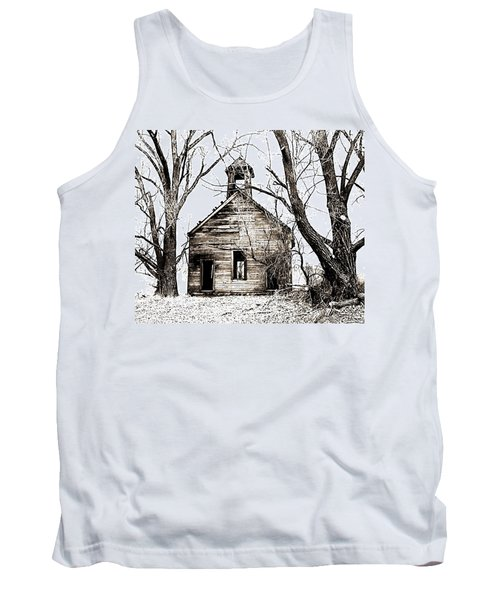Tank Top featuring the photograph 1904 School House Memory by Sonya Lang