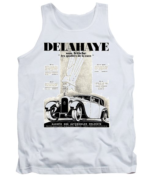 1928 - Delehaye Automobile Advertisement Tank Top