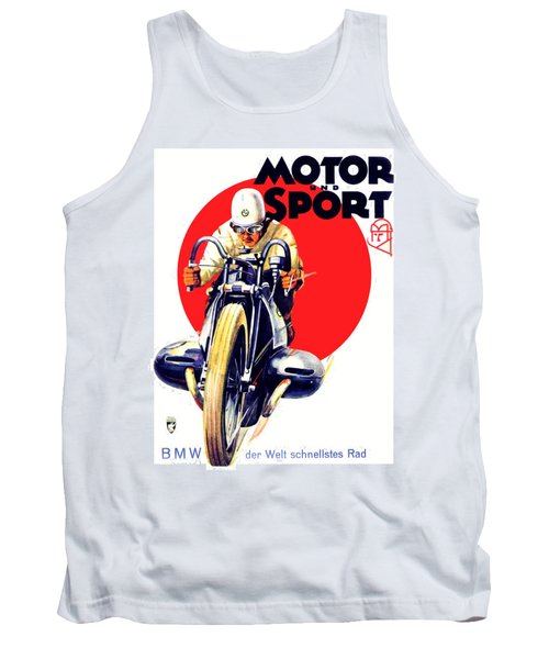 1929 - Bmw Motorcycle Poster - Color Tank Top