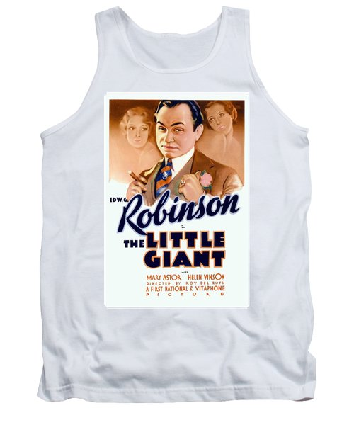 1933 - The Little Giant - Warner Brothers Movie Poster - Edward G Robinson - Color Tank Top