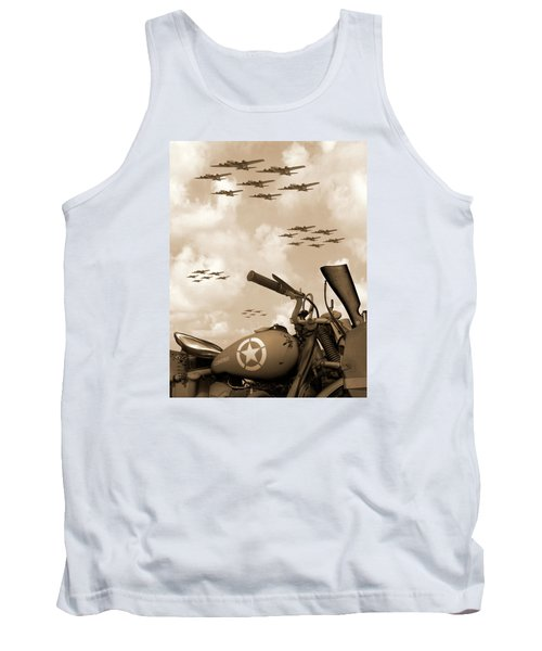 Tank Top featuring the photograph 1942 Indian 841 - B-17 Flying Fortress' by Mike McGlothlen
