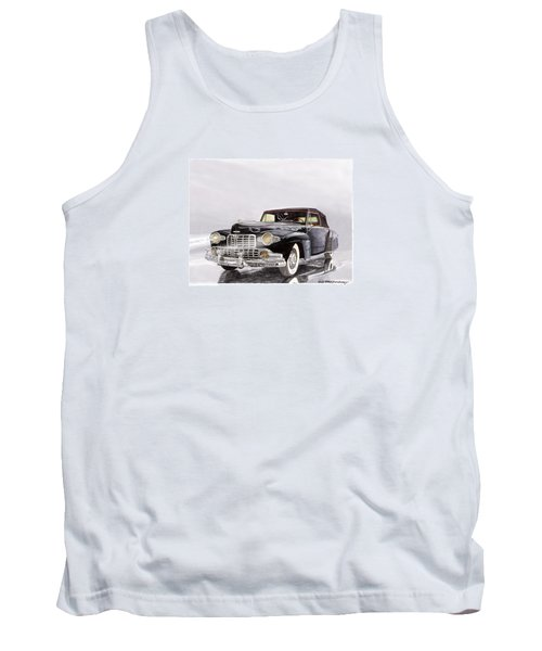 1946 Lincoln Continental Convertible Foggy Reflection Tank Top by Jack Pumphrey