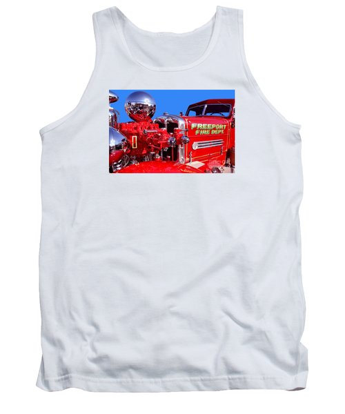 1949 Ahrens Fox Piston Pumper Fire Truck Tank Top