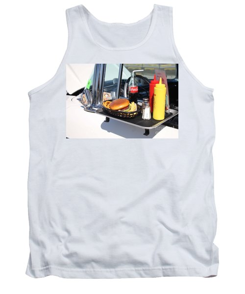 1950's Drive In Movie Snack Tray Tank Top by John Telfer