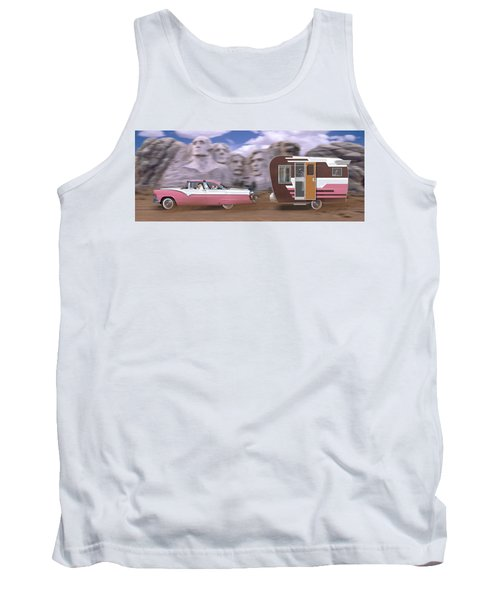 1950s Family Vacation Panoramic Tank Top