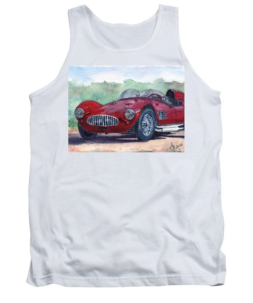 1954 Maserati A6 Gsc Tipo Mm Tank Top by Anna Ruzsan