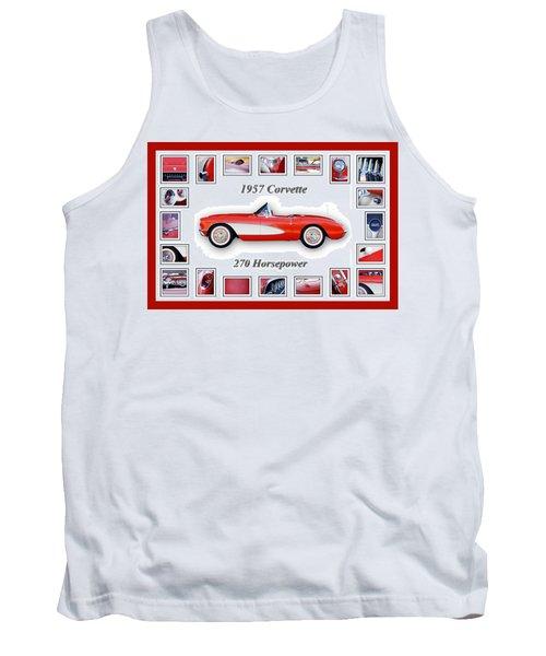 1957 Chevrolet Corvette Art Tank Top