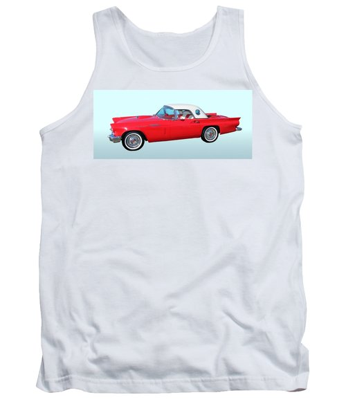 Classic Car Tank Top featuring the photograph 1957 Ford Thunderbird  by Aaron Berg