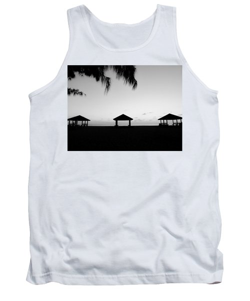 Tank Top featuring the photograph Beach Huts by Amar Sheow