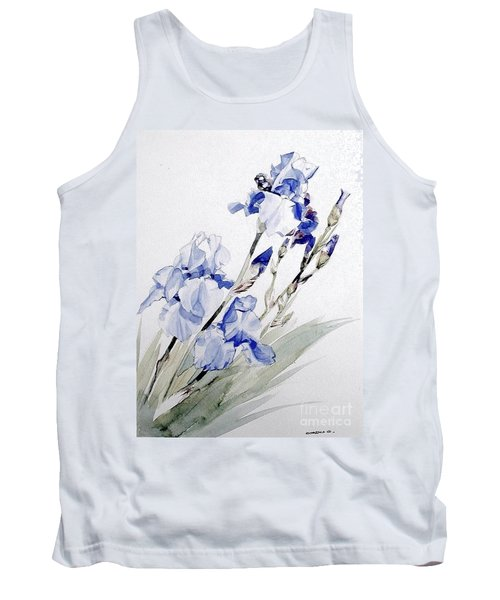 Blue Irises Tank Top