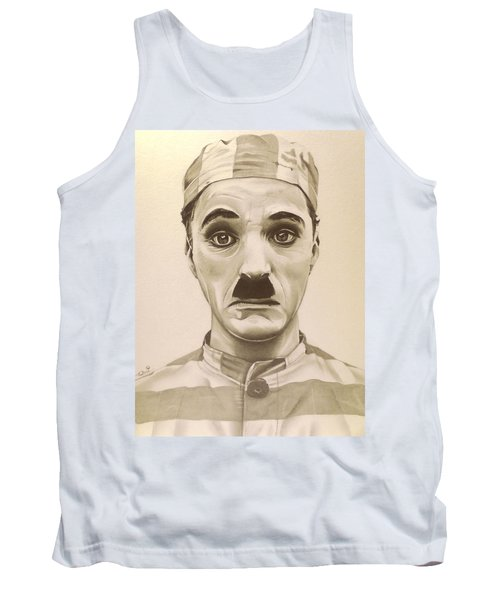 Vintage Charlie Chaplin Tank Top by Fred Larucci