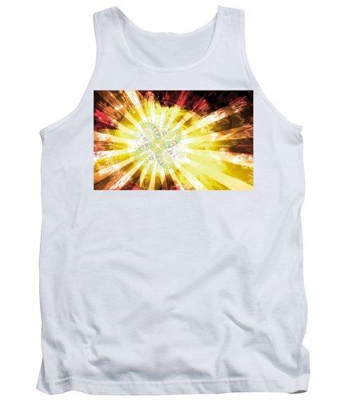 Cosmic Solar Flower Fern Flare 2 Tank Top