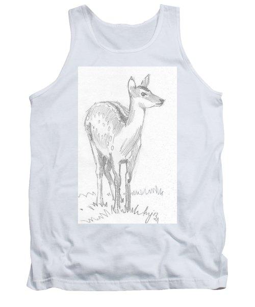 Deer Drawing  Tank Top