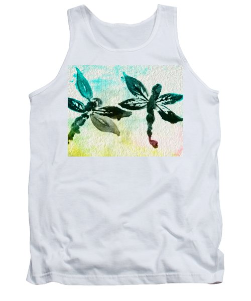 Tank Top featuring the digital art 2 Dragonflies Abstract by Frank Bright
