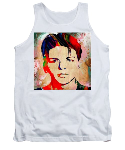 Tank Top featuring the mixed media Frank Sinatra Collection by Marvin Blaine