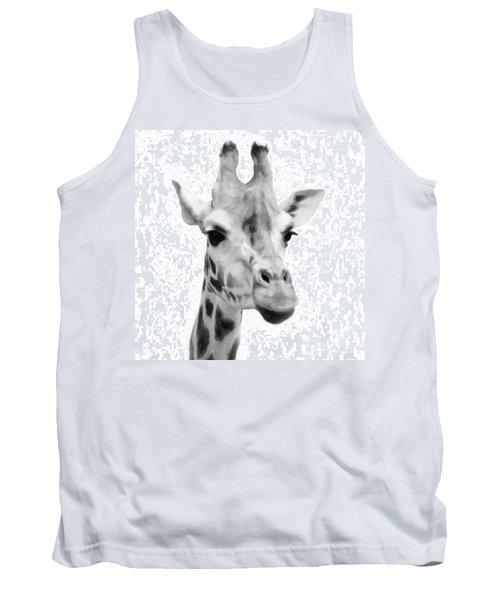 Giraffe On White Background  Tank Top